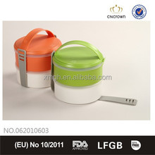 Portable Lunch Box with FDA Certification, BPA Free and Cutlery Set with Detailed Handle