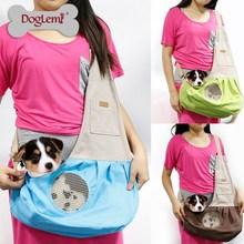 Nature Canvas Pet Sling Bag Dog Overnight Bag Dog Trendy Sling Bag