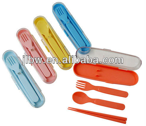 Children travel cutlery,Supply plastic tableware tableware children gift set tableware