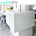 3cm Polished Surfaces White Calacatta Quartz Slab