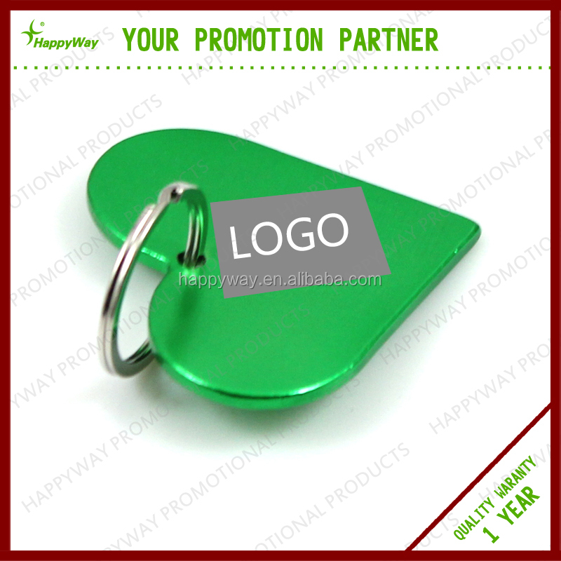 Love Heart Metal Key Ring, MOQ 100 PCS 0402032 One Year Quality Warranty