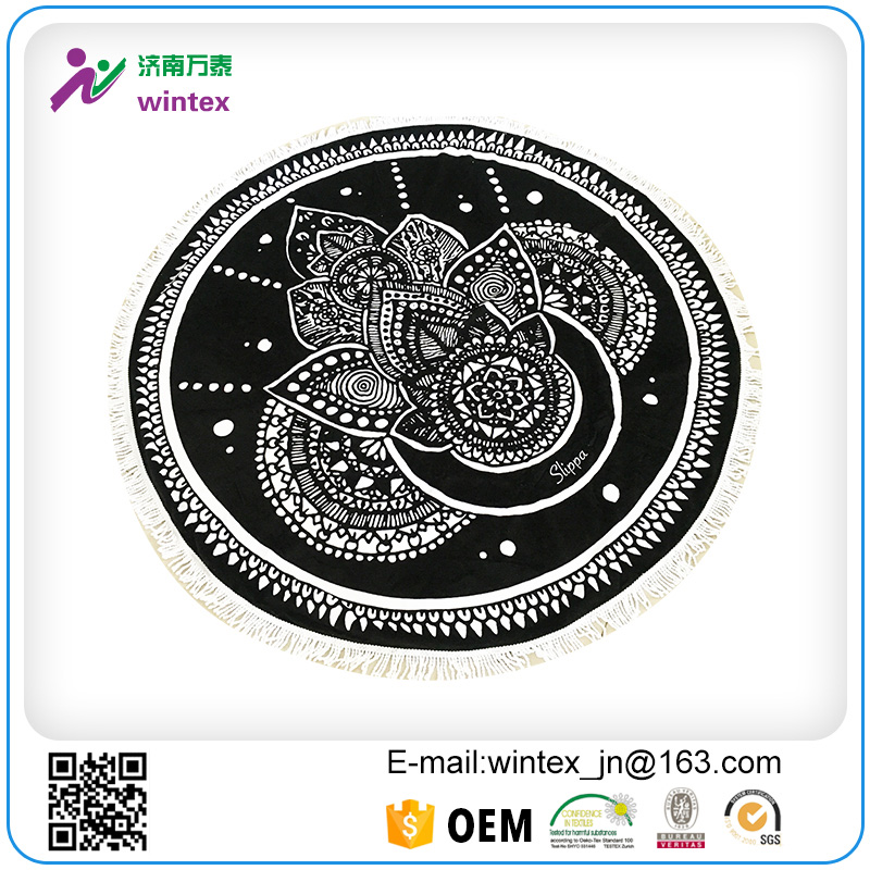 Walant Mandala Round Roundie Beach Throw Blanket Towel Tassel Oversized Yoga Mat