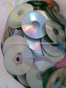 WHOLE PC CD METALIZED AND CLEAR SCRAP