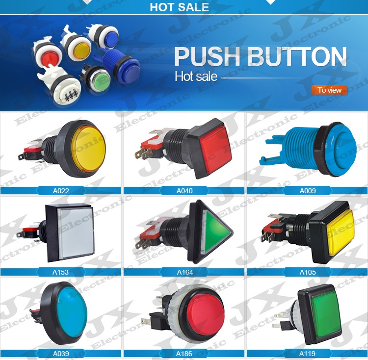 LED push button switch arcade kit game machine illuminated 12volt