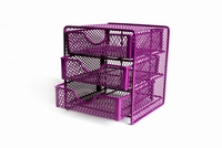 metal mesh hole small 3tier schooldesk drawer organizer
