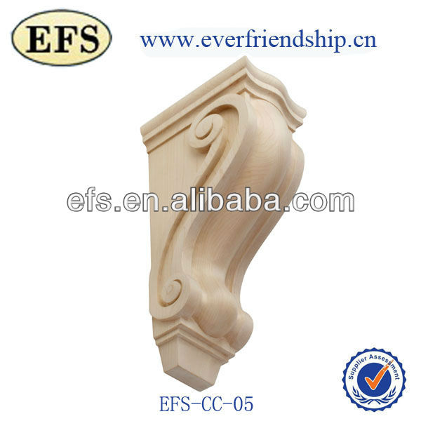 antique wooden wall decorative carved corbel (EFS-CC-05)
