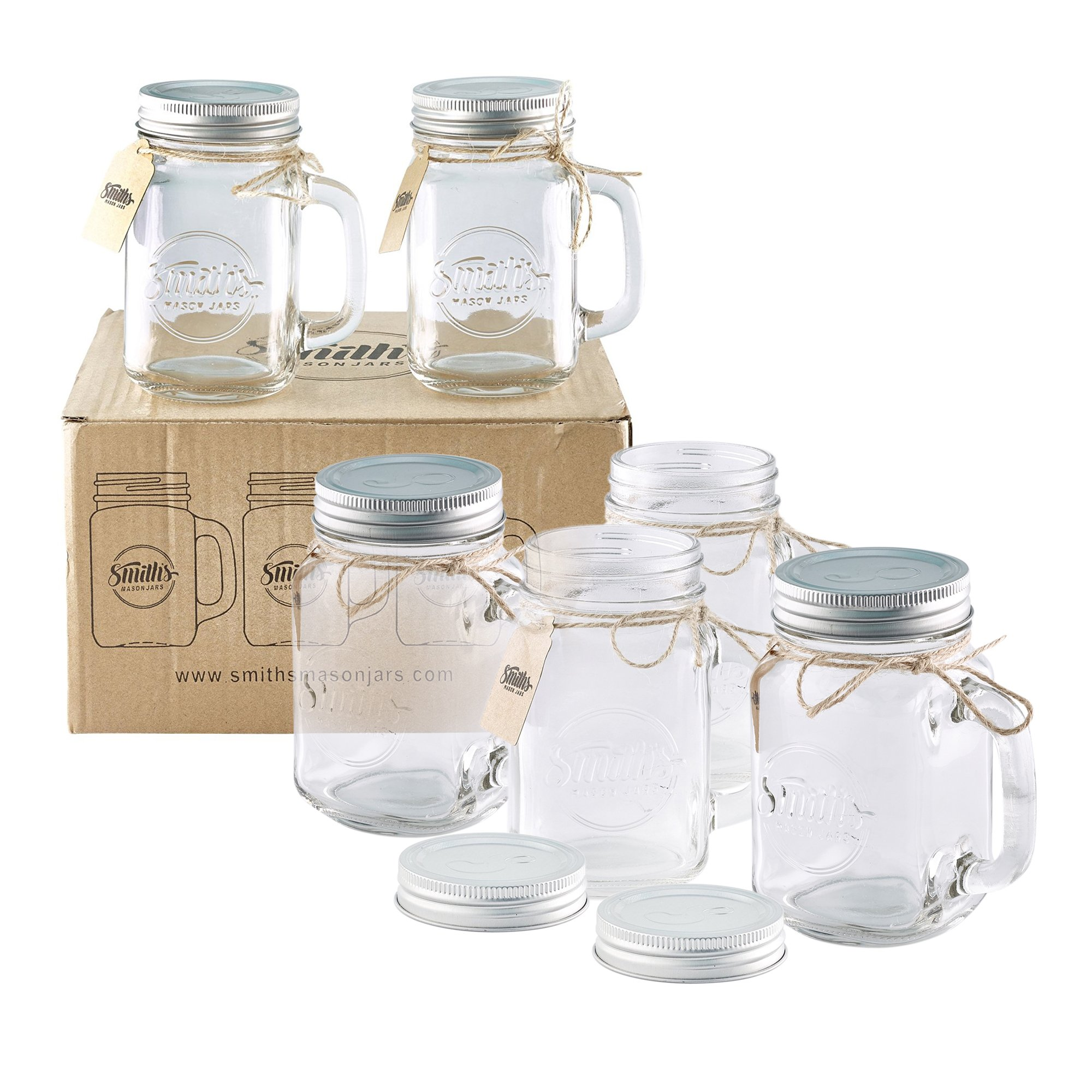 Old fashioned glass jars 5