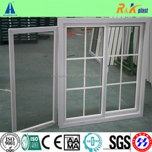 80 series plastic sliding window with decorative bar