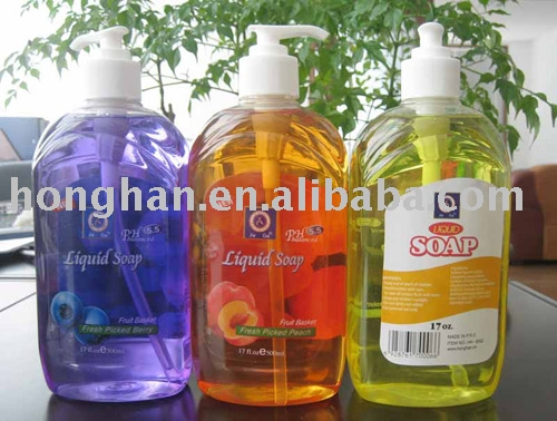 liquid hand soap in different fragrance and color