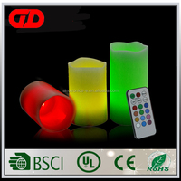 Christmas Remote Controlled Multi-colored Color Electric Paraffin Wax LED Candle Light
