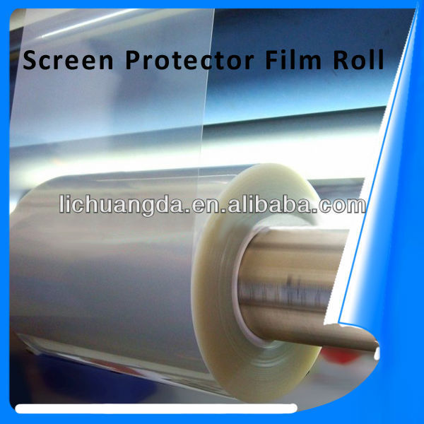 High quality! Korea 3H PET clear anti-scratch anti-glare/matte screen protector film roll for mobile phones OEM/ODM!