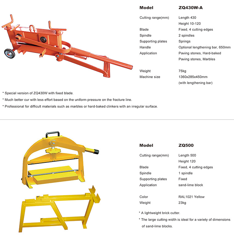 construction small brick cutter making tools manufacture
