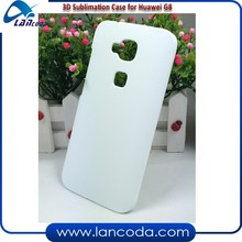 Free sample mobile phone cover 3D sublimation blank hard case printing for Huawei G8