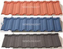 Thailand stone coated metal roofing shingles