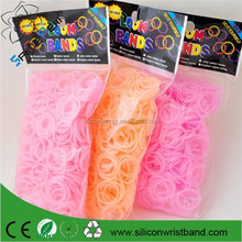 Fun DIY Rubber Loom Bands Heat Temperature Color Changing 600 pcs 24 clips 1 hook