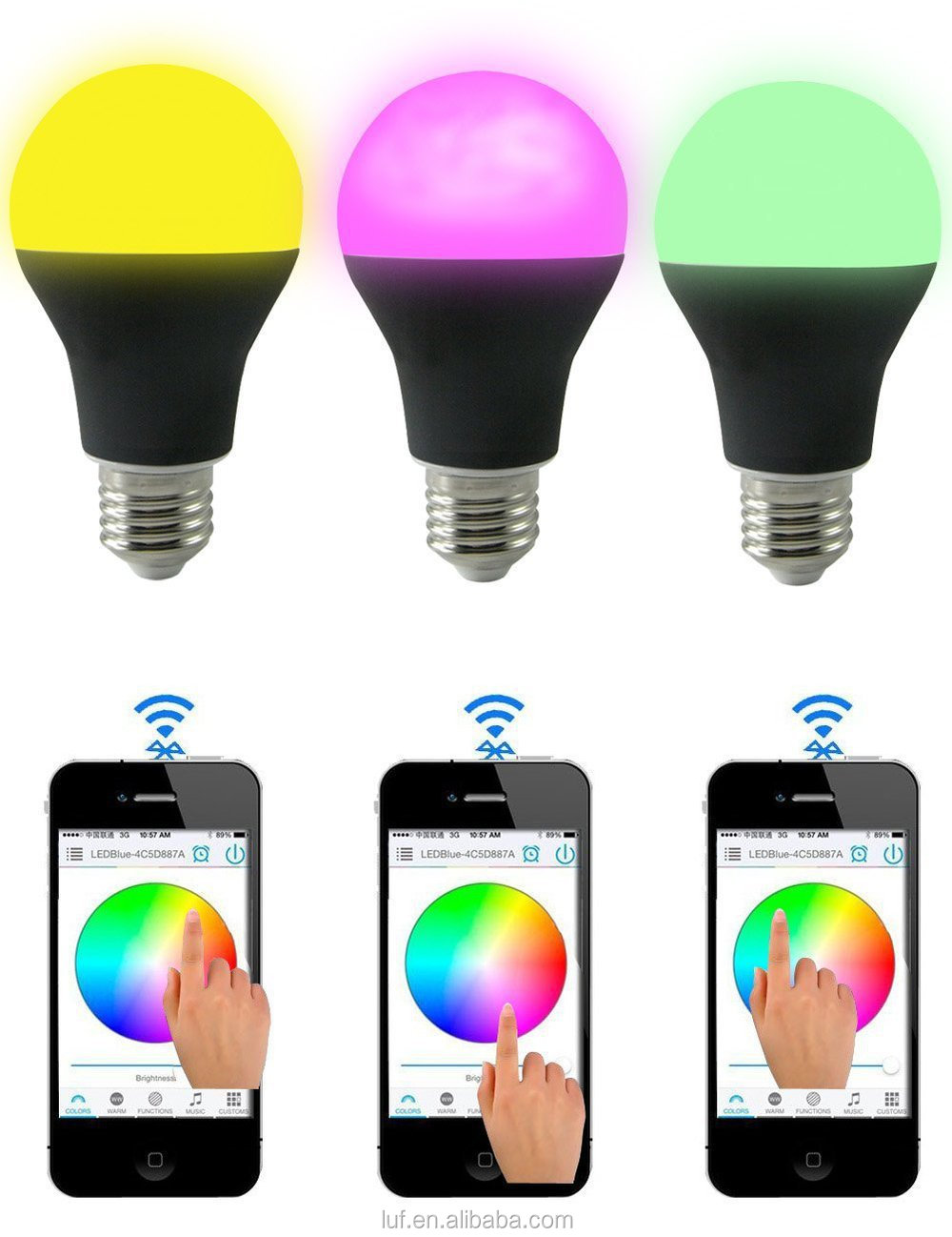 Led Bluetooth Smart Lighting Dimmable Multicolored Color Changing Smart Led Lights Buy Smart
