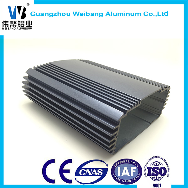 Aluminum extruded shell/aluminum enclosure/heat sink