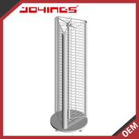 Retail Metal Wire Rotating Triangle Display Stand