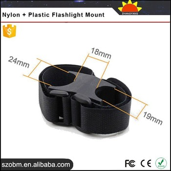 2015 Promotion TPE60 Nylon Plastic Rings Adjustable Hunting lights Torch Mount