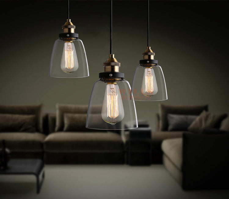 vintage hanging glass pendant lamp