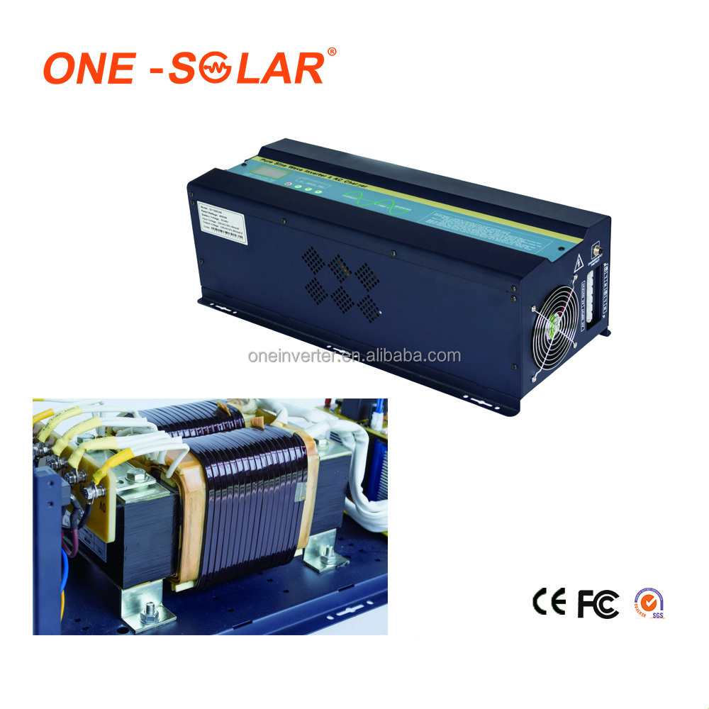 High efficiency 7000w micro solar inverter 48v 96v to 220v with built in MPPT controller