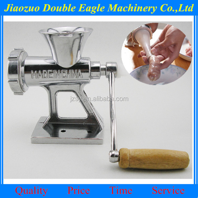 Stainless steel blade manual meat grinder/household small meat machine, multi-function ground meat treasure