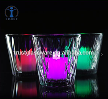 Wholesale Customized Logo Clear Transparent Home Goods Antique Crystal Glass Candle Holder