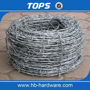 good quality and factory price galvanized barbed wire/PVC coated baeded wire
