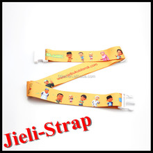 Jieli adjustment polyester luggage strap with plastic buckle holesale