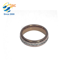 Customize your logo handmade metal stainless steel golden ring