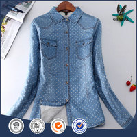 Elegant wear blouses lady clothes in flowers formal wear women design