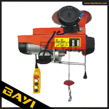 European Standard rope mini hoist with trolley