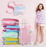 TRAVEL Cool 2016 NEW STYLE ABS+ PC 24inch Hello kitty luggage suitcase+Cosmetic case Set 2