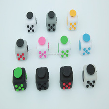 3.3cm Fidget Cube Toy With Silicone Button
