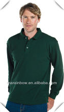 Traditional pattern Blank Mercerized cotton Men's POLO shirts