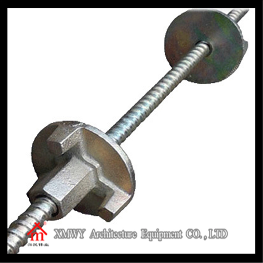 Construction Material Scaffolding Formwork Concrete Wall Metal Tie Rod With Wing Nut