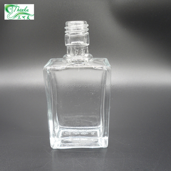100ml square spirit vodka whiskey gin glass bottle wholesale