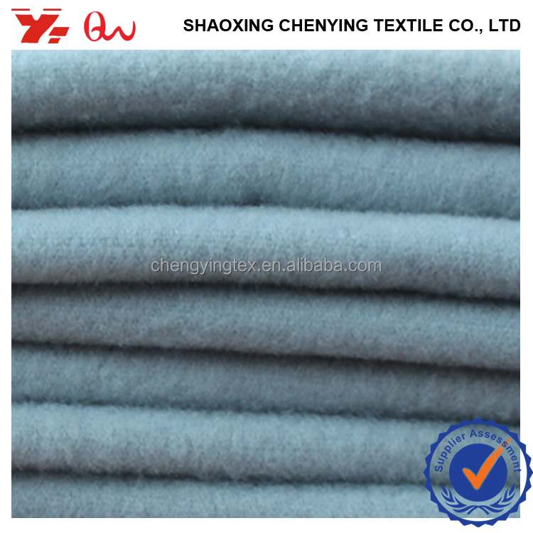 zhejiang professtional polyester rayon spandex fabric manufacturer woven tr melton wool touch TTR BRUSHED FABRIC for winter coat