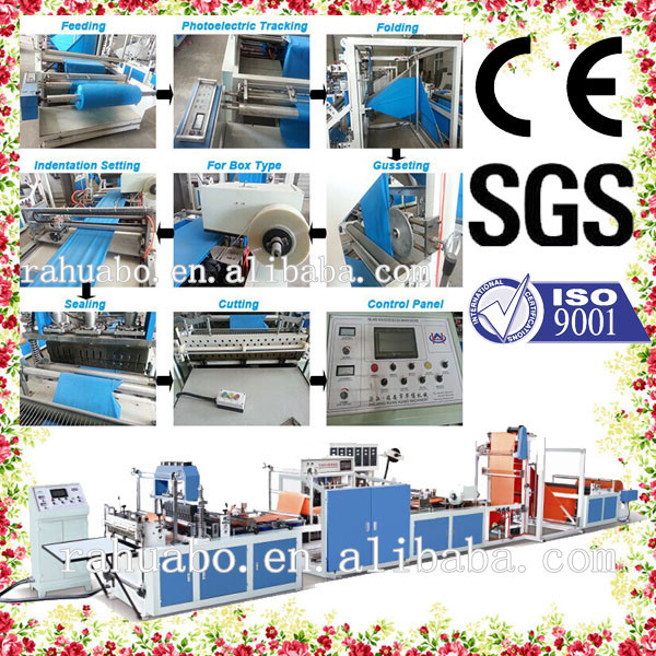 Popular Taiwan Ultrasonic automatic bottom cut and seal bag making machine