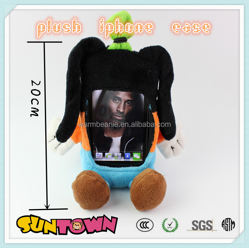 High quality cartoon plush toy case for iphone , iphone case