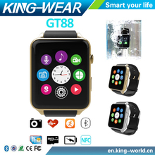 Christmas Promotional Gift 2016 GT88 Bluetooth 4.0 Waterproof GT88 NFC Bluetooth Smart Watch Phone Mate For Iphone Android
