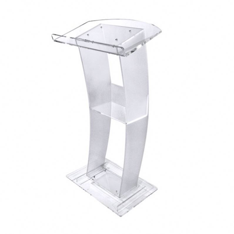 custom curved lucite acrylic church pulpit for speech school podiums