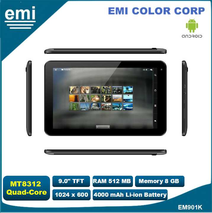 9 inch tablet pc with Dual Core 1.3GHz, Bluetooth , 3G , GPS , FM
