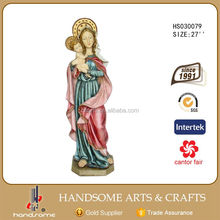 Wholesale Virgin Mary Statues Resin Sculpture Mary And Baby Jesus Statue
