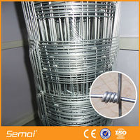 Anping Manufacture Semai Factory 15cm*15cm Livestock Metal Cattle Fence Panels / Deer Farm Fencing