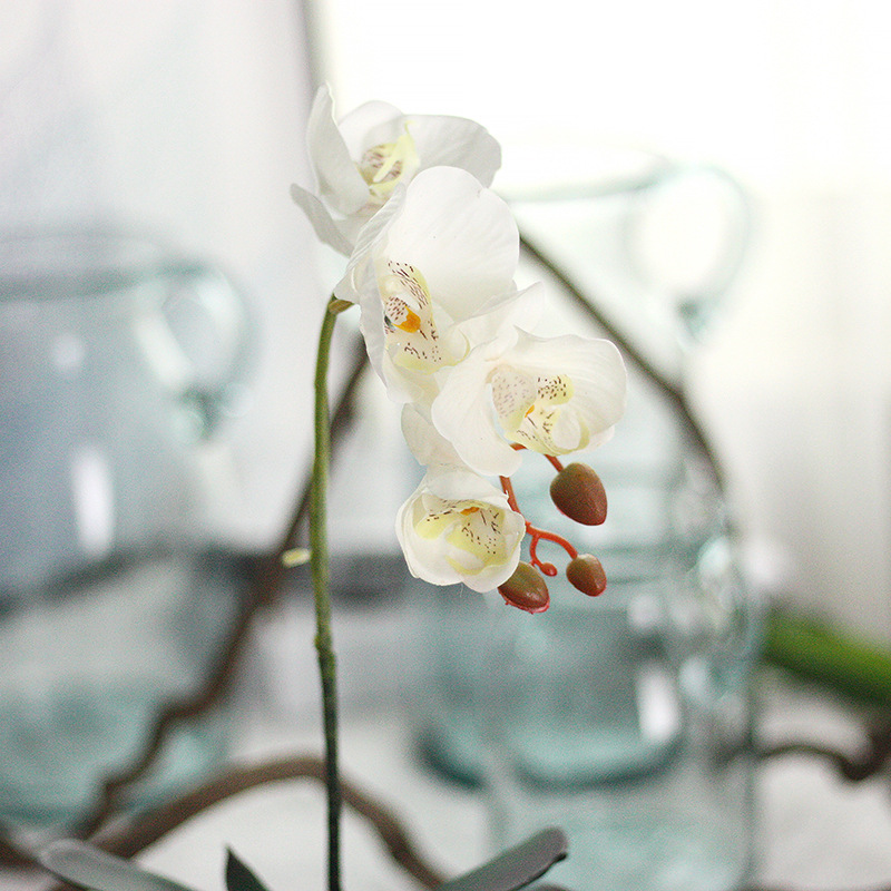 GF15479 short butterfly orchid types of artificial flowers for dinning hall decoration flowers <strong>wedding</strong>