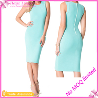 Light Blue Sexy Summer Women On Piece Dresses