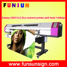 Large format 1440dpi sticker plotter with two DX5 head 2.1m galaxy UD2112LC eco solvent printer