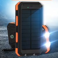 Cell Phone Solar Charger 10000mah For Iphone Samsung Xiaomi Nokia HTC etc