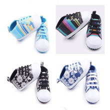 Spring and autumn new colorful canvas baby shoes Soft Sole Baby Shoes